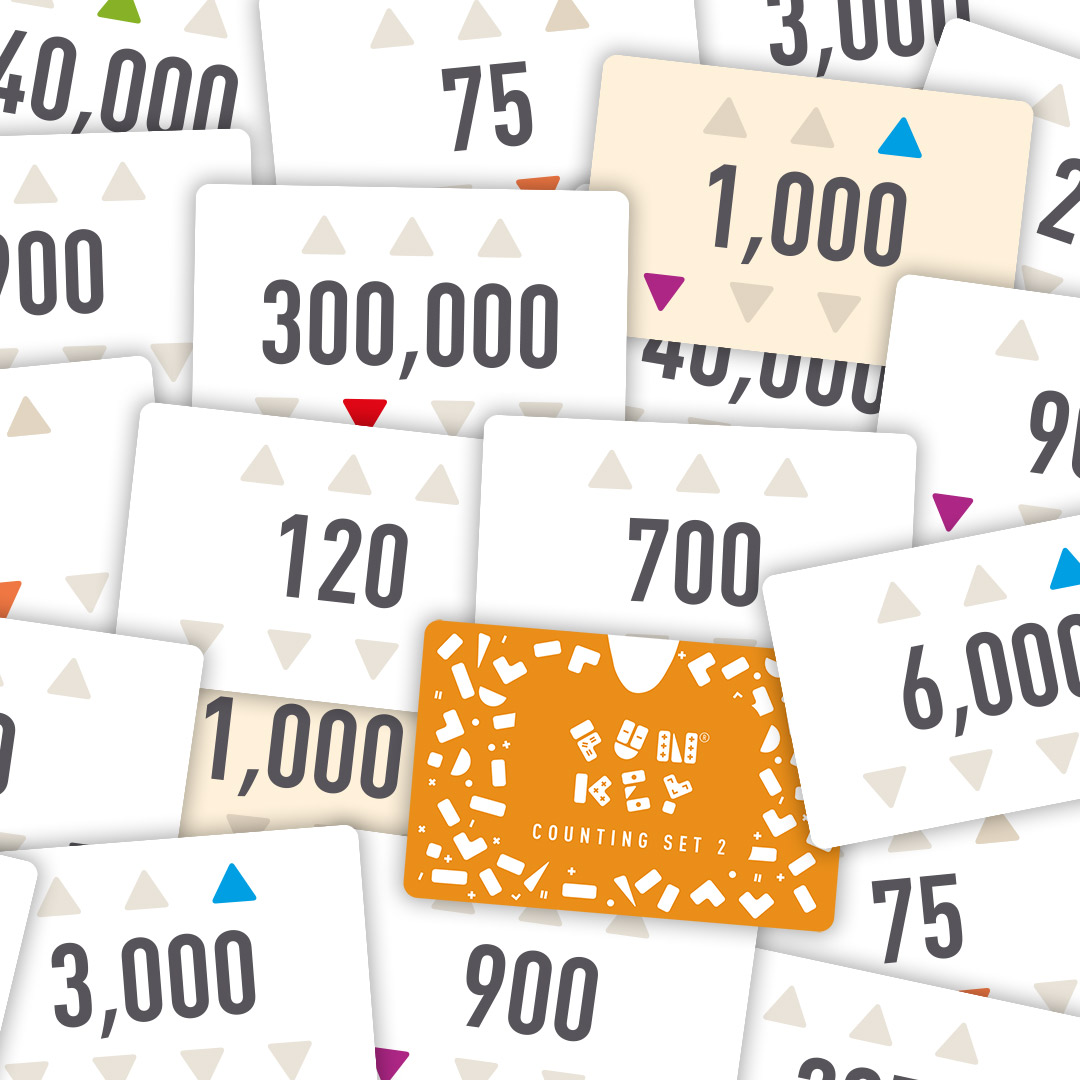 Counting cards scattered