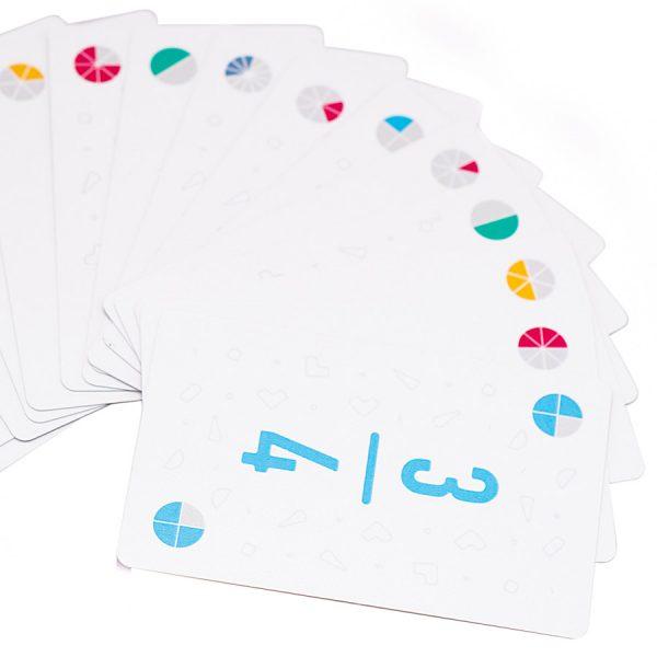 Fan of fraction cards
